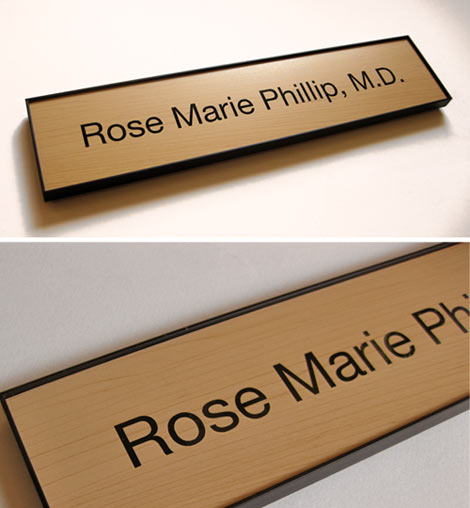 rich wood office signs