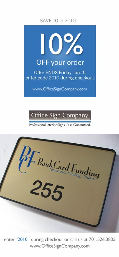 signs coupon code